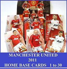 Choose Adrenalyn XL MANCHESTER UNITED 2011 Man Utd Home Base Cards 1 - 30 Panini