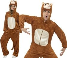 Adult Monkey Fancy Dress Costume Unisex Ape Animal Suit Outfit New by Smiffys