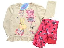 Girls Peppa Pig & Rebecca Ballett Pyjamas 12-18 18-24 to 2-3 3-4 4-5 5-6 Years