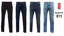 Genuine LEVIS MENS 511 Slim Fit Levi Jeans Denim Blue Black Multiple colours