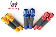 "Motorcycle CNC Aluminum Rubber Gel Hand Grips with bar end for 7/8"" Handle Bars"