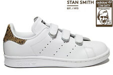 ADIDAS ORIGINALS STAN SMITH SNAKE STRAP WOMENS TRAINERS WHITE UK SIZE 7 - 9.5