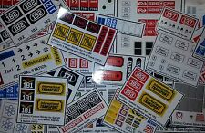 ●●●● Custom Lego Sticker Stickers - vintage sets ( Train before 1981) ●●●●