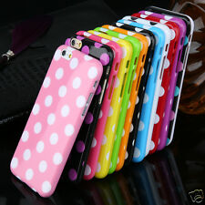 Polka Dot Case for Apple iPhone 6 4.7 Candy Color Silicone Simple Back Cover