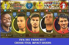 Choose Adrenalyn XL FIFA 365 Panini 2017 Gold IMPACT SIGNING Cards From 25 - 43