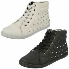 Mujer Spot On Zapatillas High Top f8958