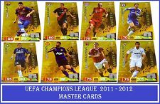 Choose Your Adrenalyn XL 2011/12 UEFA Champions League 2012 MASTER 11 12 Cards