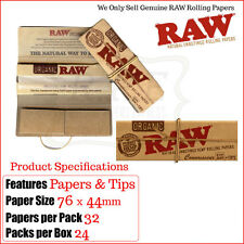 RAW Regular 1¼ Organic Hemp Connoisseur Papers & Filter Tips - Multi Listings