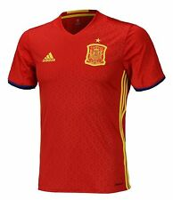 NWT Adidas Youth Spain Euro 2016 Home Jersey Euro Soccer Shirts Red S/S AA0850
