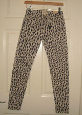 Ralph Lauren cheetah print zip-ankle skinny stretch jeans 6 sizes RRP: 85 GBP