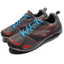Hi-tec Haraka Grey Red Blue Men Trail Outdoors Running Shoes Sneakers Trainers