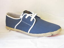 "HERREN BASE LONDON LEINENSCHUHE ""MARINEBLAU"" ""SPAM"""