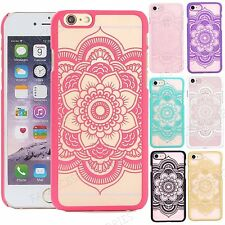 For iPhone 7 Case Fancy Henna Flower Lace Design For iPhone 6s 6 5s 5 SE Cover
