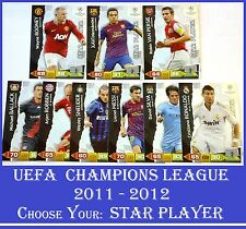 Choose Adrenalyn XL 2011/12 UEFA Champions League 2012 STAR PLAYER 11 12 Cards