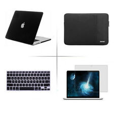 BUNDLE Rubberized Case, KEYBOARD cover  Sleeve for Macbook pro Air touch bar