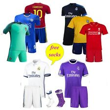 Football Club Soccer Kit With Socks Team Jersey Sets New (Assorted)  1 Set