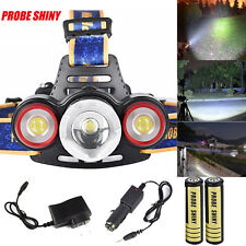 Zoomable 8500Lm 3x XML T6 LED Headlamp Head Light 18650 USB Rechargable Torch