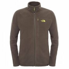 The North Face Mens 200 Shadow Full Zip Fleece Black Ink Green - Size S