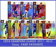 Choose Adrenalyn XL 2011/2012 UEFA Champions League FANS' FAVOURITE 11 12 Cards