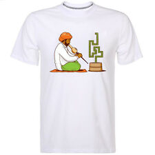 Nokia 3310 Indian Snake Charmer Retro Humour Top T-shirt Mens Womens Size Large