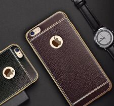 """SOFT LEATHER TPU * Protective Back cover case for * APPLE IPHONE 6 / 6S (4.7"""")"""