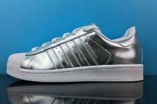 ADIDAS SUPERSTAR BA7665 SILVER & WHITE SIZES AVAILABLE 3, 4, 5, 6, 7 BRAND NEW
