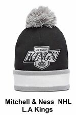 MITCHELL & NESS LA Kings NHL Official knitted Beanie Pom Bobble Hat RPR £29.99