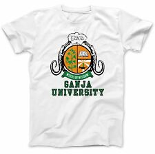 Ganja University Cannabis Weed Hash T-Shirt 100% Premium Cotton Spliff