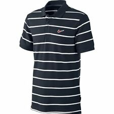 Nike Mens Golf Polo Shirt Cotton Shirt Oferta Ad Club Navy White stripe UK S M