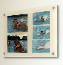 """Cheshire acrylic 20x16"""" 10mm picture photo frame for 8x6 & 6x4"""" photo all colour"""