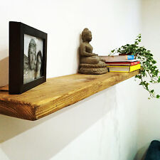 Rustic Pine Floating Shelves
