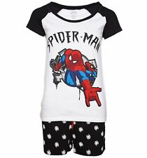 Official Women's Marvel Comics Spider-Man Shortie Pyjamas
