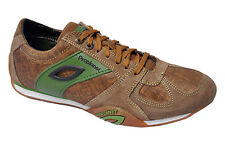 WOODLAND ORIGINAL MENS 1215112 CAMEL GREEN ADVENTURE CASUAL LACED FLAT SHOES