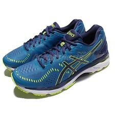 Asics Gel-Kayano 23 Blue Yellow Men Running Shoes Sneakers Trainers T646N-4907