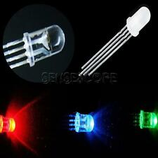 50/100Stks 5mm 4pin RGB Diffused Tri-Color Common Anode LED Red Green Blue