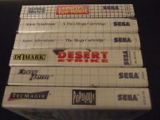 SEGA MASTER SYSTEM GAMES DROP DOWN MENU ALIEN SYNDROME AND MORE