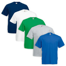 Set 5 T-Shirt FRUIT OF THE LOOM Cotone Original Vari Colori