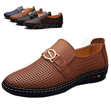 Chaussures Cuir Synthétique Homme Mode Mocassin Creux Richelieu Derby Respirant