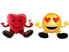 Valentines Day Fun Smiley Party Decoration Assorted Giant Air Fill Foil Balloons