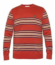 Lyle & Scott Lyle & Scott Mens Crew Neck Red Striped Jumper