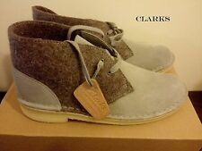 CLARKS Originals Desert Boot Dark Grey Felt Women's Boots UK 4.5 5.5 RRP £120
