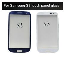 Front Touch Screen Outer Glass Lens for Samsung S3 i9300: White / Blue