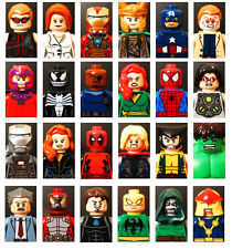 Marvel, DC, Star Wars Mini-figures with base - 100% Lego Set Compatible