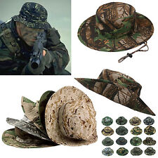 R Men's Military Bucket Hat Boonie Hunting Fishing Climbing Outdoor Wide Cap