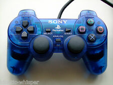 Sony PlayStation 2 (PS2) Dual Shock 2 Controller (Blue) SCPH-10010 - Authentic