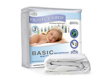 PROTECT A BED -  BASIC 100% LUXURY WATERPROOF MATTRESS PROTECTOR - 3 YRS WARRATY