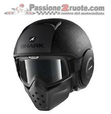 Casco helmet Shark Raw Drak Tribute nero antracite Black grey