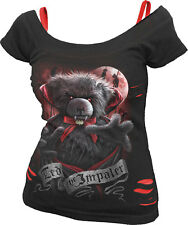 Spiral Direct TED THE IMPALER - TEDDY BEAR, 2in1 Red Ripped Top Black|Vampire