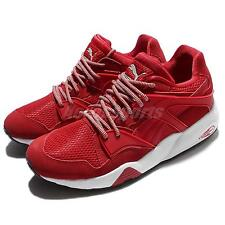 Puma Blaze Red White Trinomic Suede Men Casual Shoes Sneakers Trainers 362510-04