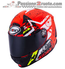 Casco integrale Suomy SR Sport Stars Orange Moto XS S M L XL